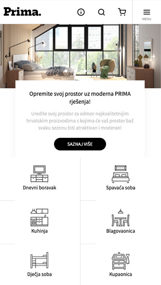 Mobile Prima webshop